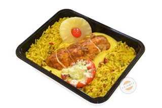 Afbeelding van Kippenfilet met kerriesaus en rijst