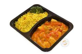 Afbeelding van Kip op zijn Indisch met rijst
